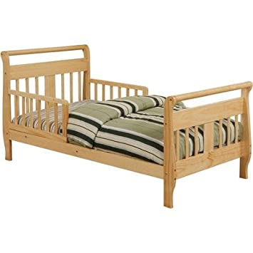 new style f258b 626eb Amazon.com : Baby Relax Sleigh Toddler Bed, Natural : Baby
