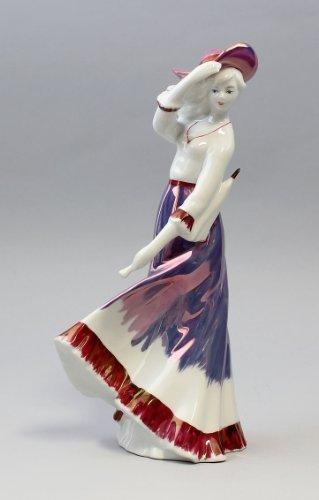 Amazon.de: Porzellanfigur Dame Mit Hut Und Schirm