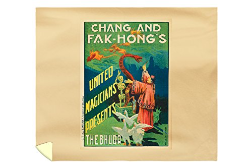 Chang and The Fak - Hong's - The Budha Vintage Poster Spain c. 1922 (88x104 King Microfiber Duvet Cover) by Lantern Press