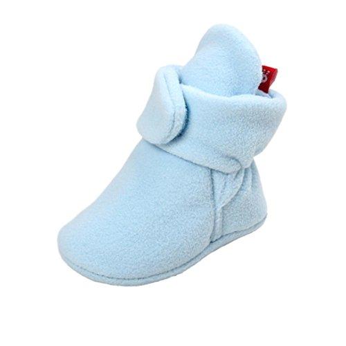 Huhu833 Kinder Mode Baby Stiefel Soft Sole, Schnee Stiefel, Bunt Stiefel, Soft Crib Schuhe Kleinkind Stiefel Warm Schuhe Hell Blau