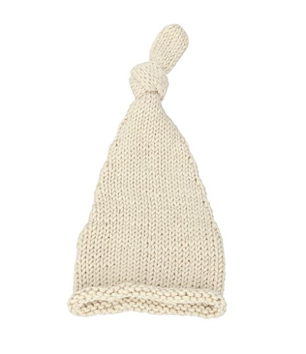 BestKnit Baby girls and boy crochet Knitted Newborn Knotted Elf Hat Beanie Small Ivory (Infant Top Hat)