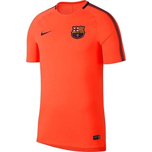 Nike Men's Barcelona Squad Soccer Training Top (Medium) Hyper Crimson