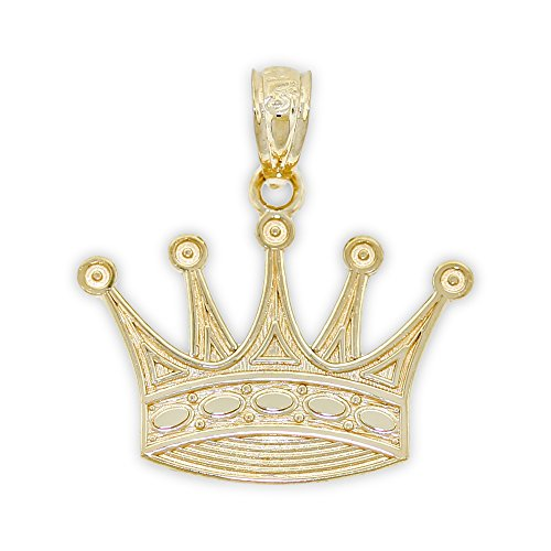 Charm America - Gold Crown Charm - 14 Karat Solid Yellow -