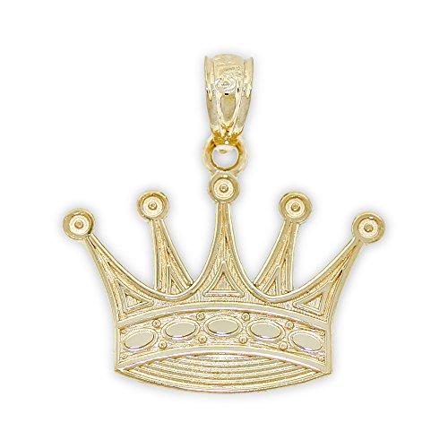 Charm America - Gold Crown Charm - 14 Karat Solid Yellow Gold ()