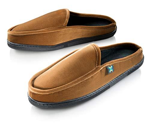 a34cc17b3362 Roxoni Mens Comfort Memory Foam Slippers-A Classic Corduroy House Shoe-Anti  Skid Rubber