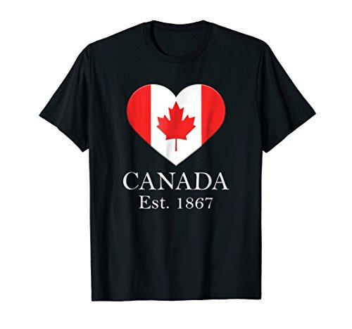 Canadian Maple Leaf Heart Flag - Canada 150 Years T-Shirt