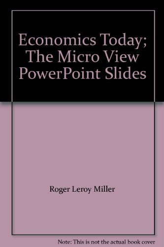 Economics Today; The Micro View PowerPoint Slides