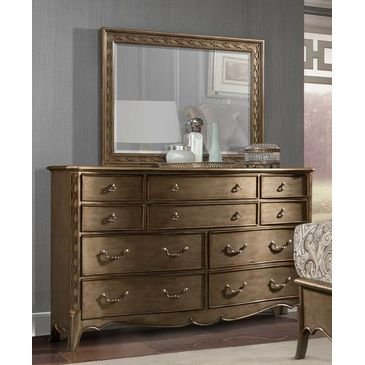 Bella Mia Bedroom Furniture in Antique Gold (Accent Mirror)