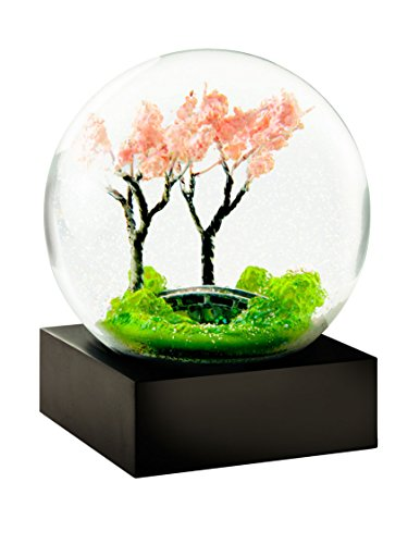 CoolSnowGlobes Spring Trees Glass Snow Globe