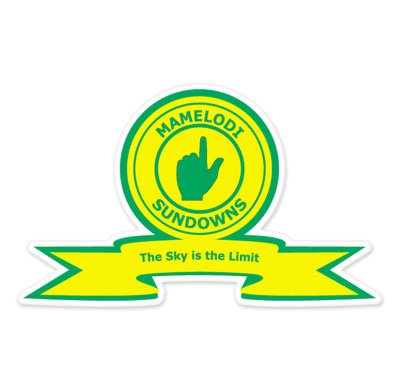 fan products of Mamelodi Sundowns FC - South Africa Football Soccer Futbol - Car Sticker - 5