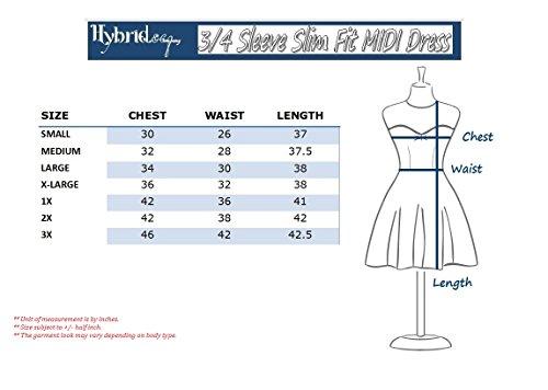 HyBrid amp; Comfy Super Dress 8012 royal Plum Women's Neck Company MIDI Cross V ZwfraqZnx