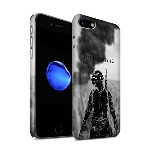 STUFF4 Matte Hard Back Snap-On Phone Case for Apple iPhone 7 / Land Loot Survive Design / PUBG Video Gaming (Land Design)