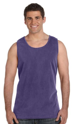 Comfort Colors Ringspun Garment-Dyed Tank, Large, GRAPE