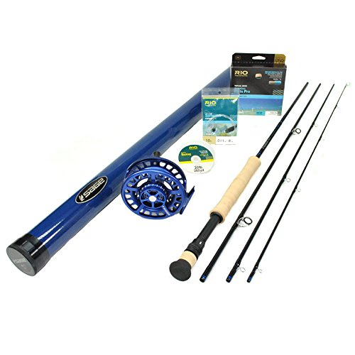 Sage Salt HD 1291-4 Fly Rod Outfit (9'0, 12wt, 4pc) w Spectrum MAX Reel, RIO Flats Pro Fly Line