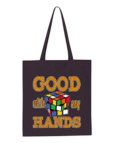 Rubik`S Cube Good With My Hands Tote Handbags