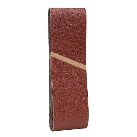 Bosch 2608606073 Sanding Belts75x533 G150 150 Grit Set of 3 Pieces Red