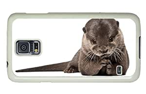 Hipster Samsung Galaxy S5 Case thin covers otter PC White for Samsung S5