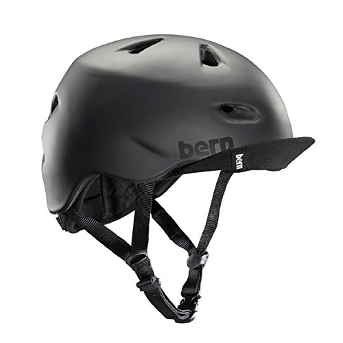 Bern Unlimited (VM3MBKVLXL) Brentwood Summer Helmet with Flip Visor, Matte Black, Large/X-Large (Whitewater Helmet)