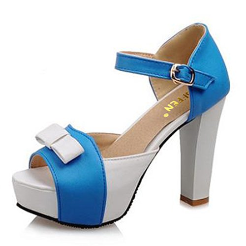 Sky-Pegasus Women High Heel Sandals Fashion Bowtie Open Toe Platform Thick Heeled Ladies Footwear Size ()