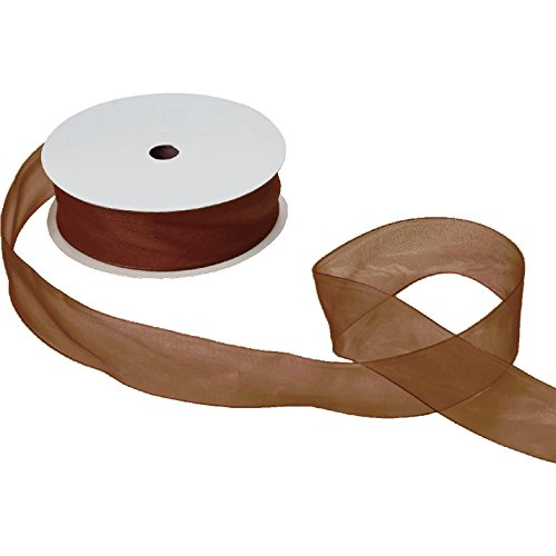 Jillson & Roberts Organdy Sheer Ribbon, 1 1/2'' Wide x 100 Yards, Brown by Jillson Roberts