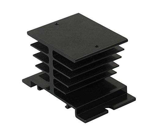 Aluminum Heatsink, Solidstate Relay Base Sheet Cooler with M4 Mount Screw Black