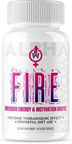 Alpha Woman Fire – Diet Pills That Work Fast for Women, 4-in1 Thermogenic Fat Burner. Metabolism Booster for Weight Loss, Appetite Suppressant Energy. 60