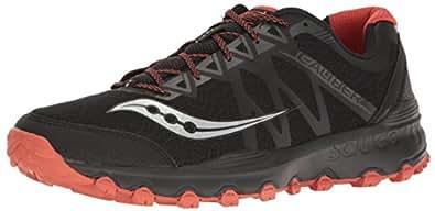 Saucony Men's Grid Caliber Tr Trail Runner, Black/Grey/Orange, 7 M US