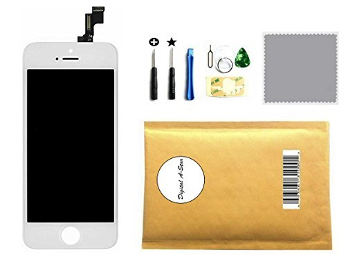 LCD Digitizer Touch Screen Glass Replacement Full Assembly for IPhone 5 5G White