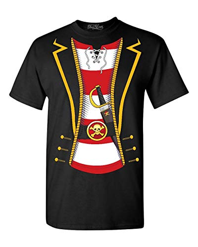 Shop4Ever Pirate Buccaneer Costume Stripe T-Shirt Small Black 0]()