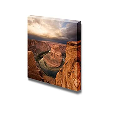 Beautiful Scenery Landscape Majestic Sunrise at Horseshoe Bend Arizona with Colorado River - Canvas Art Wall Art - 12