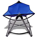 Daonanba Hammock Foldable Relaxing Garden Furniture Blue