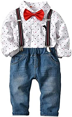 Cvbndfe Trajes de Caballero Chico Camisa Suave para niños de 2 ...