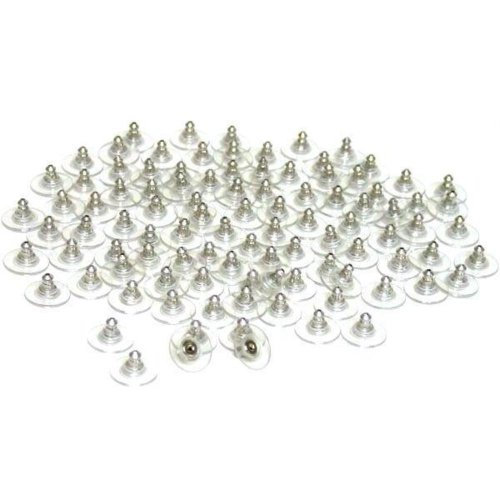 100 Safety Earring Backs Ear Nut 100 Safety Earring Backs Ear Nut Hypoallergenic Findings