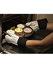 Jujudada Silicone Oven Mitts Heat Resistant Kitchen Oven Gloves for BBQ Cooking Baking Grilling Barbecue Microwave Machine