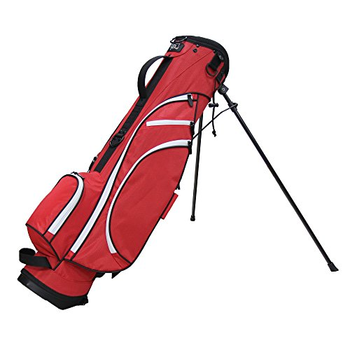 Cheap RJ Sports Typhoon Mini Stand Bag, Red/Black, 6″