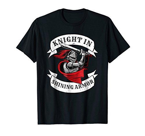 Knight In Shining Armor Templar Knight Sword Tshirt