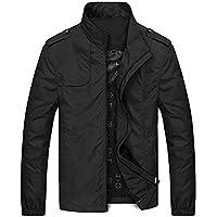 Sunward Coat for Men,Men's Autumn Winter Casual Zipper Stand Collar Pocket Pure Color Jacket Coat