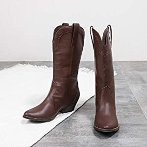 CINAK Western Cowboy Boots Women