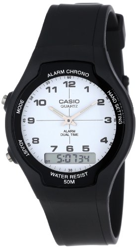 Casio Men's AW90H-7B Sport Multi-Function White Dial Dual Time Watch ()