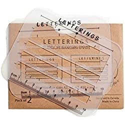Envelope and Address Stencil Ruler Guide and Template for Writing, Calligraphy, Recipe Cards, Wedding Invitations, Thank you notes, Baby Shower Invitations, Holiday Cards and DIY Labels- 2 Size Pack