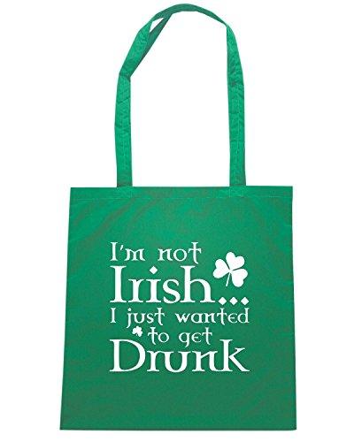 T-Shirtshock - Bolsa para la compra TIR0082 im not irish dark tshirt Verde