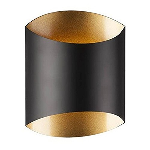 (Kuzco Lighting Flat Black W/gold LED Sconce)