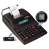 1280-7 Two-Color Printing Calculator w/USB, Black/Red Print, 4.6 Lines/Sec, Sold as 1 Each