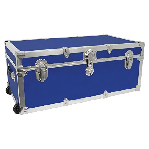 Seward Trunk Footlocker Trunk with Nickel Trim, Blue, 30-Inch (SWD7130-19) by Seward Trunk