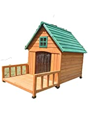 XXXL Large Dog House Kennel Pet Timber Wooden with Decking