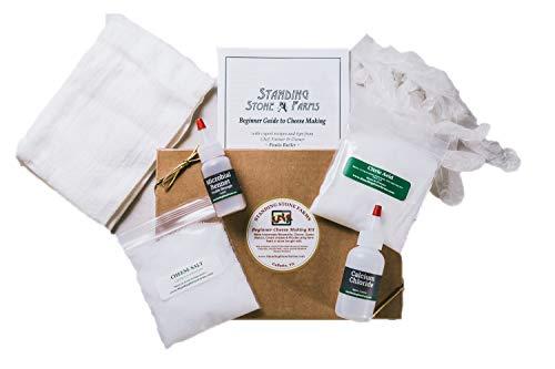Standing Stone Farms Basic Beginner Cheese Making Kit - Mozzarella, Burrata, Burricota, Chevre, Ricotta, Mascarpone & Butter!