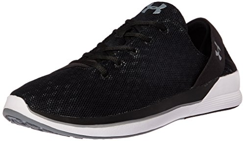 Under Armour Women's Rotation Sneaker, Rhino Gray (100)/Black, 10