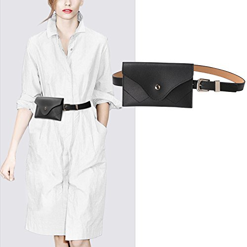 JASGOOD Womens Leather Belt Fanny Pack With Removable Belt Tassel Waist Pouch Fashion Belt Bags by JASGOOD