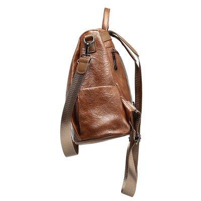PU Damen Leder Rucksack Damen Casual Schultertasche Schultasche Damen Tasche Brown xIEBsv