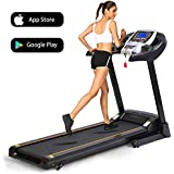 Folding Electric Treadmill Incline Motorized Power Fitness Running Machine Smartphone APP Control for Home Gym Exercise
